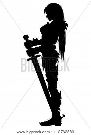 Guardian Knight Woman Silhouette