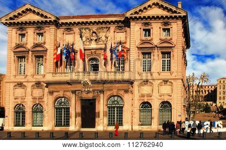 France, Marseille -october 19, 2015: The City Hall In Marseille.  Old Port (vieux-port). Marseille I