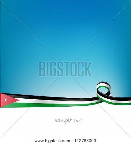 Jordan Flag On Sky  Background