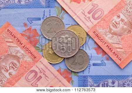 Banknote And Coins Of  Ringgit Of Malaysia