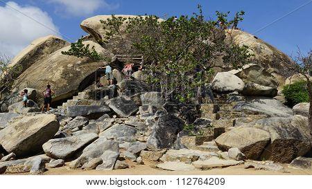 Casibari Rock Formation in Aruba