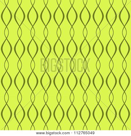 Elegant Seamless Pattern Of Curved Interlacing Lines