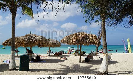 Eagle Beach in Oranjestad, Aruba