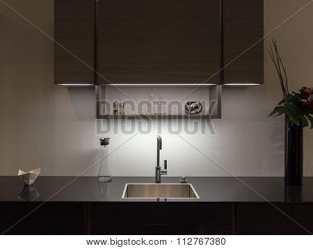 Dark Kitchen Sink
