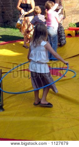 Girl Playing Hula-Hoop