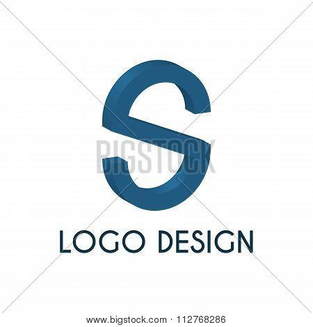 Stock logo letter s. 3d illustration.