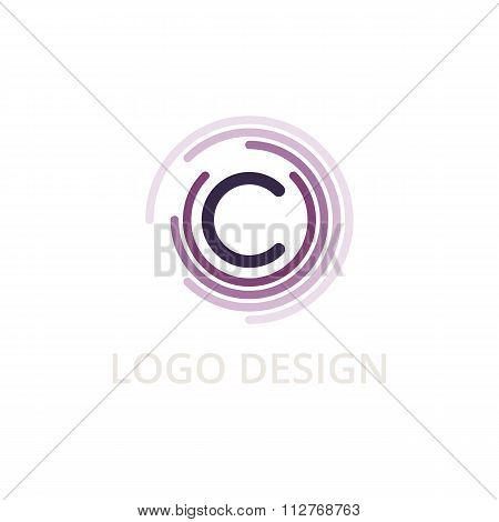 Vector illustration letter logo c