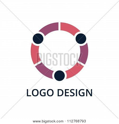 Vector illustration of people logo