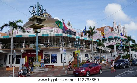 Lloyd G. Smith Boulevard in Oranjestad, Aruba