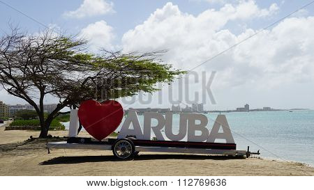 I Love Aruba sign