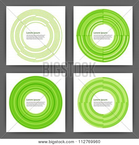 Stock Vector Design template square cards