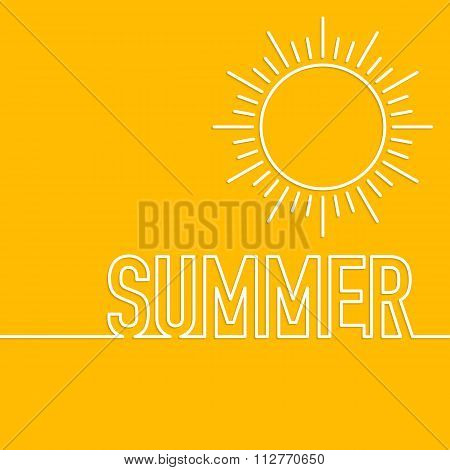 Vector illustration of a linear design summer sun.