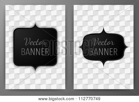 Vector illustration of a banner invitations a4.