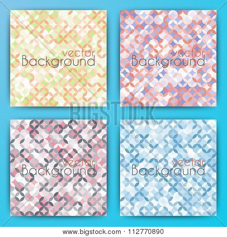 Stock Vector Set abstract background.