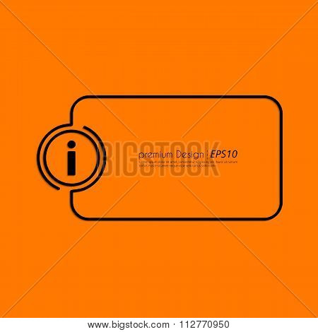 Stock Vector Linear icon information