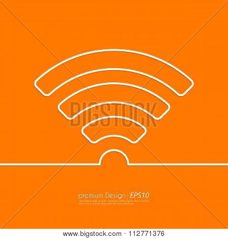 Stock Vector Linear icon wi-fi.