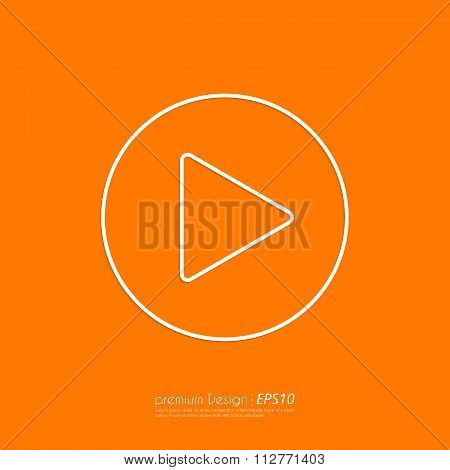 Stock Vector Linear icon start.