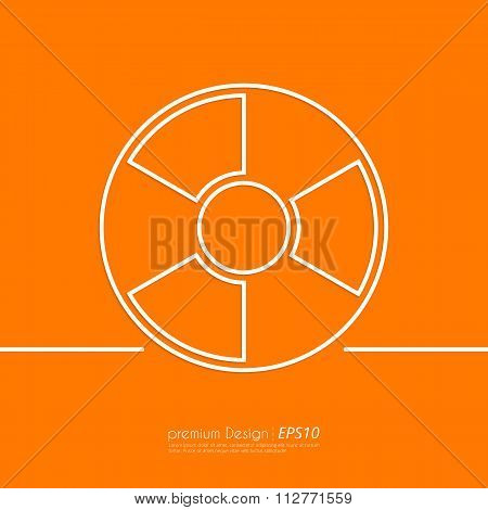Stock Vector Linear icon radiation
