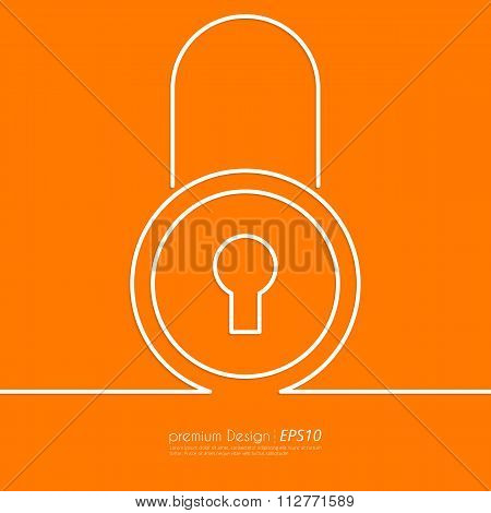 Stock Vector Linear icon lock.