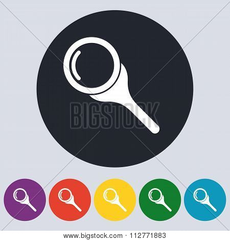 Stock Vector Linear icon search