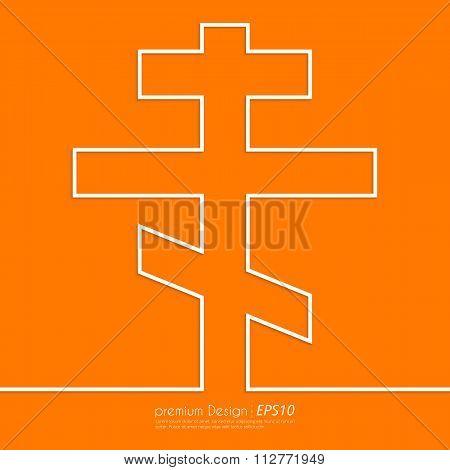 Stock Vector Linear icon cross