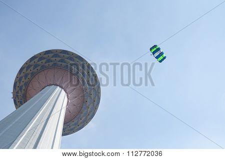 Kuala Lumpur Tower Base Jump.