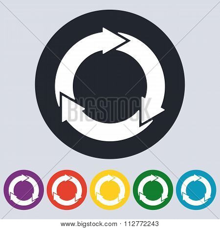 Stock Vector Linear icon three arrows