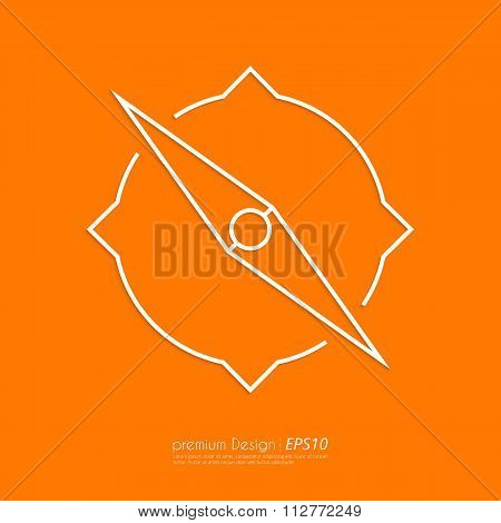 Stock Vector Linear icon compass