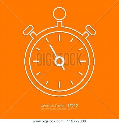 Stock Vector Linear icon stopwatch