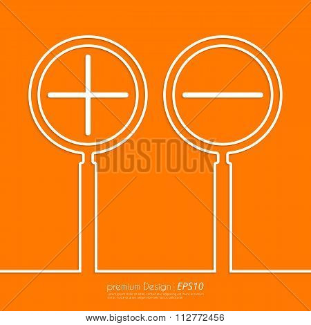 Stock Vector Linear icon increase and decrease