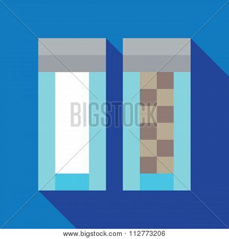 Retro pixel Salt and Pepper flat design icon