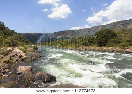 River Rapids Rocks Valley