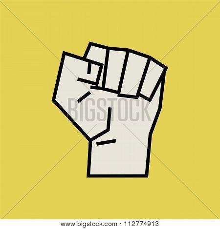 Fist Vector Illustration.