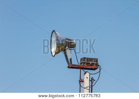 Speaker Megaphone White On Pole