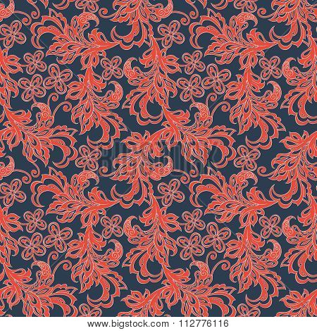 vintage floral seamles pattern. colorful vector background
