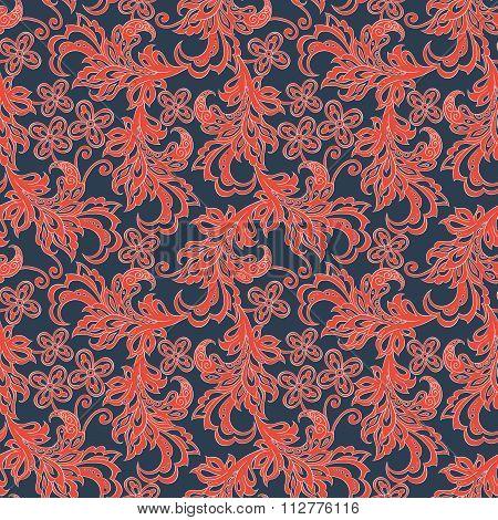 vintage floral seamles pattern. colorful vector background
