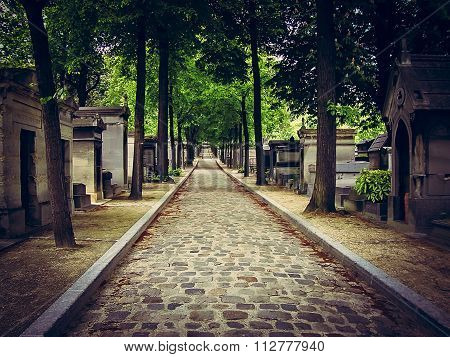 Life's Inescapable Path - Pere Lachaise Cemetery in Vignette - Paris, France