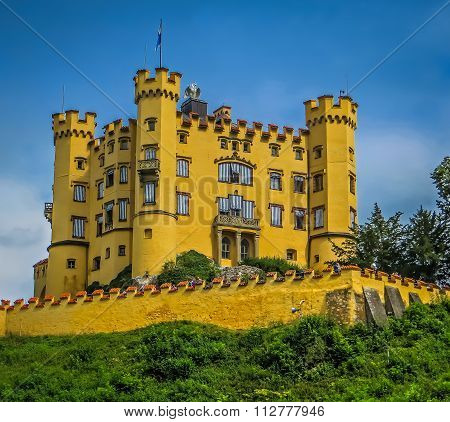 Hohenschwangau Castle - Mad King Ludwig of Bavaria - Fussen, Germany