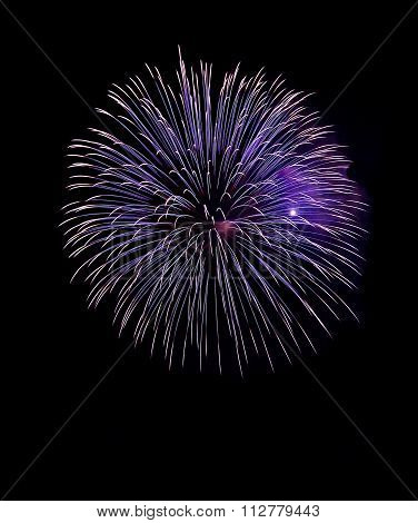 Blue and violet colorful fireworks in black background,artistic fireworks in Malta,Malta fireworks f