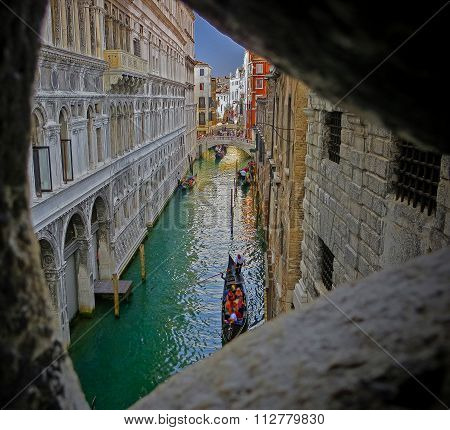 Last View of Light - Inside Bridge of Sighs Prison - Venice, Italy