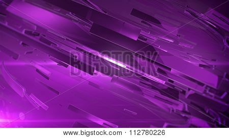 Abstract 3D Background With Lens Flare