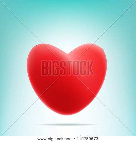 red mesh heart