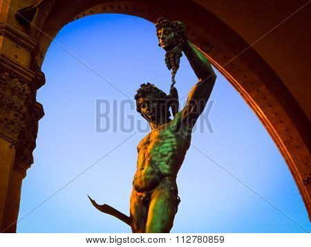 Cellini's Perseus With the Head of Medusa Statue - Florence, Italy