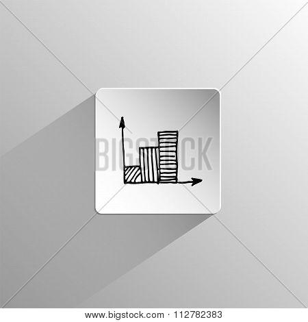 Growth Arrow Black Icon Doodle