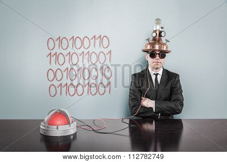 Bytes concept with businessman
