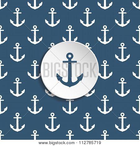 Anchor seamless pattern.