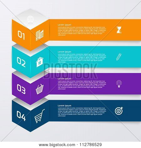 Vector illustration of infographics four options