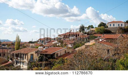 Mountain Village Of Vouni In Cyprus