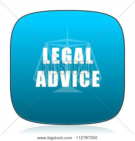 legal advice blue icon
