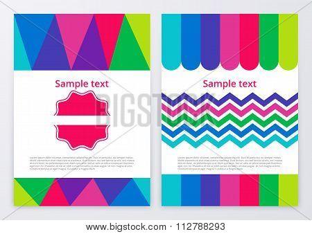 Vector illustration of color brochures